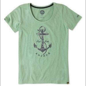 Minty Green Ladies Find Your Anchor Scoop Neck Tee